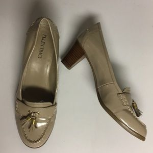Ellen Tracy Reese Heeled Patent Leather Shoes Sz 8